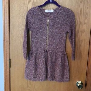 Zara knit peplum sparkly sweater